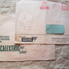 Scalextric: 2 SOBRES PROMOCIONALES SCALEXTRIC AÑOS 60 W. Lote 199193632