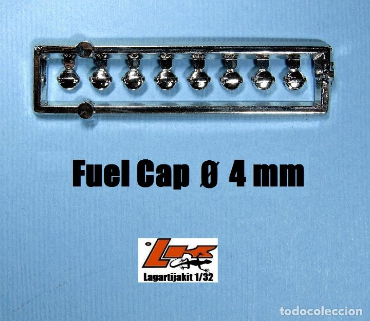 8 TAPONES COMBUSTIBLE 4 MM 1/32 - KIT RESINA - FUEL CAP - TAPON GASOLINA (Juguetes - Slot Cars - Scalextric Pistas y Accesorios)