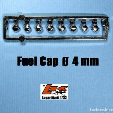 Scalextric: 8 TAPONES COMBUSTIBLE 4 MM 1/32 - KIT RESINA - FUEL CAP - TAPON GASOLINA. Lote 199782597