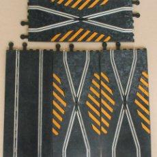 Scalextric: PISTAS SCALEXTRIC EXIN - 4 TRAMOS DE PISTAS. 3 REF. PT 82 Y 1 REF. PT 3060 - CAMBIO DE VIA - CRUCE. Lote 202491308