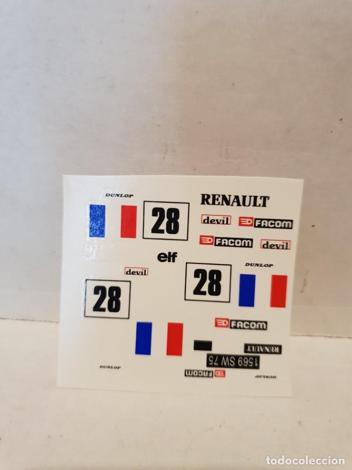 CALCAS AL AGUA RENAULT 5 (Juguetes - Slot Cars - Scalextric Pistas y Accesorios)