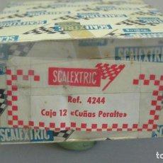 Scalextric: SCALEXTRIC CAJA 12 CUÑAS PERALTE. RFª. 4244. Lote 202891012
