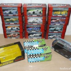 Scalextric: LOTE 15 CAJAS VACIAS DE SCALEXTRIC FLY NINCO EXIN REVELL VINTAGE SLOT EMPTY BOXES. Lote 202994415