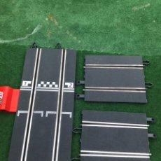 Scalextric: PISTA DE CONEXIONES GRIS + PISTAS DE COMPATIBILIDAD SCALEXTRIC. Lote 206190856