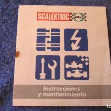 Scalextric: SCALEXTRIC EXIN ORIGINAL: INSTRUCCIONES Y MANTENIMIENTO 16 X 14 CMS. Lote 208452200