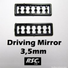Scalextric: 12 RETROVISORES COCHES SLOT 3,5 MM 1/32 - KIT RESINA - DRIVING MIRROR. Lote 208469900