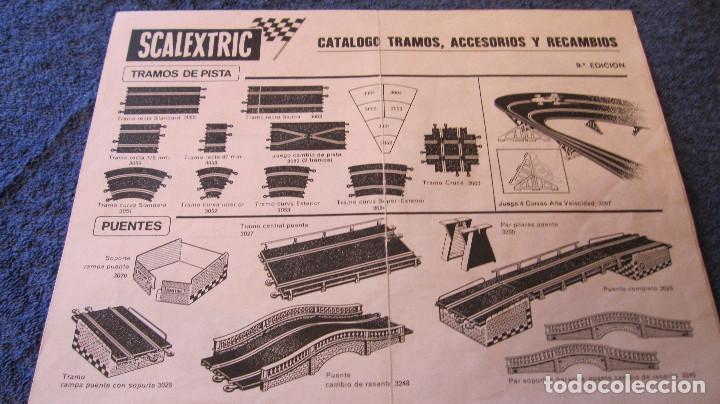 SCALEXTRIC EXIN ORIGINAL: CATALOGO TRAMOS ACCESORIOS Y RECAMBIOS 9 EDICION. XII DEL 75 (Juguetes - Slot Cars - Scalextric Pistas y Accesorios)