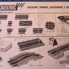 Scalextric: SCALEXTRIC EXIN ORIGINAL: CATALOGO TRAMOS ACCESORIOS Y RECAMBIOS 9 EDICION. XII DEL 75. Lote 208927381