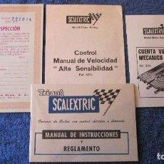 Scalextric: SCALEXTRIC EXIN ORIGINAL: MANUAL, C VUELTAS 3259,CONTROL MANUAL,INSPECCION GP 26. Lote 209090536