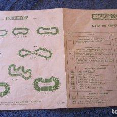 Scalextric: SCALEXTRIC EXIN ORIGINAL: LISTA DE ARTICULOS FEBRERO 1987. Lote 209254090