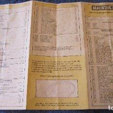 Scalextric: SCALEXTRIC EXIN ORIGINAL: TARIFA DE PRECIOS VENTA AL PUBLICO 1992. Lote 209313468