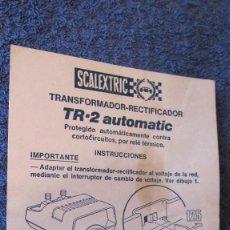 Scalextric: SCALEXTRIC EXIN ORIGINAL: INSTRUCCIONES TRANSFORMADOR TR-2 AUTOMATICO. Lote 209822985