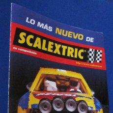 Scalextric: SCALEXTRIC ORIGINAL: DIPTICO NUEVA TECNOLOGIA DEL 99. Lote 210222947