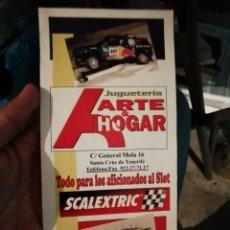 Scalextric: ANTIGUO CATÁLOGO FOLLETO COCHES DE SCALEXTRIC SLOT RECAMBIOS TIENDA JUGUETERÍA ARTE Y HOGAR. Lote 210546042