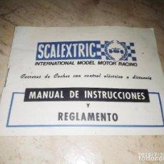 Scalextric: MANUAL DE INSTRUCCIONES REGLAMENTO SCALEXTRIC. Lote 212751713