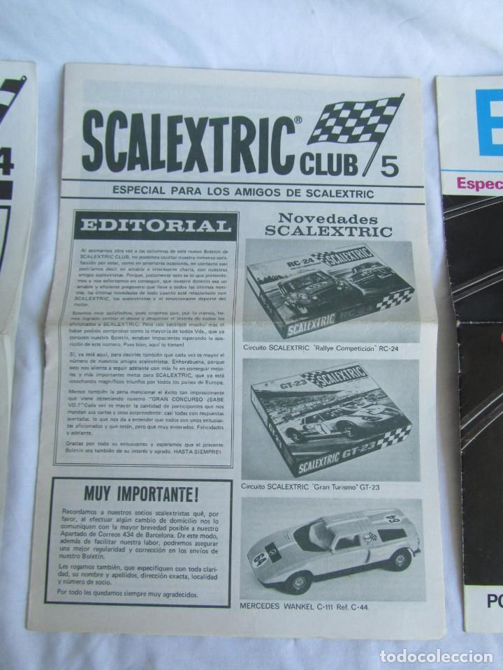 Scalextric: 3 revistas Scalextric Club nº 4 - 5 - 6 - Foto 3 - 213406820