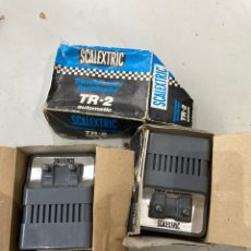 Scalextric: DOS TRANSFORMADORES SCALEXTIC FUNCIONAN . VER FOTOS. Lote 214254691