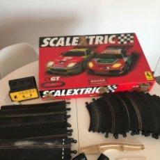 Scalextric: LOTE SCALEXTRIC : CAJA C1 GT+COCHE FERRARI 550, TRANSFORMADOR, MANDOS Y PISTAS. LEE LA DESTRUCCIÓN!. Lote 217260520