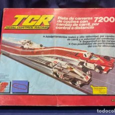 Scalextric: TCR 7200 PISTA TOTAL CONTROL RACING MODEL IBER 2 COCHES CAJA COMPLETA AÑOS 80 7X48X59CMS. Lote 221087622