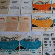 Scalextric: SCALEXTRIC EXIN ,LOTE DE DOCUMENTACIÓNES Y CATÁLOGOS. LO DE LAS FOTOS. Lote 221463712