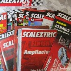 Scalextric: LOTE 14 REVISTAS SCALEXTRIC CLUB MAS 1 POSTER Y CATALOGOS AMPLIACIONES Y INSTRUCCIONES VARIAS. Lote 221760290