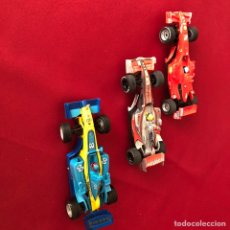 Scalextric: 3 COCHES SCALEXTRIC COMPACT FERRARI, MERCEDES, RENAULT. Lote 222357513