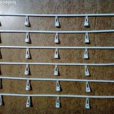 Scalextric: LOTE DE 6 VALLAS SCALEXTRIC - VINTAGE, BLANCAS, CIRCUITO CLÁSICO -. Lote 224699767