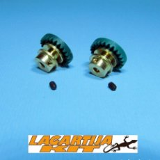 Scalextric: LOTE 2 CORONAS BRONCE 24 DIENTES - CORONA PARA EJE 2,38 MM - 3/32. Lote 225257660