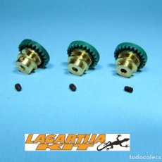 Scalextric: LOTE 3 CORONAS BRONCE 24 DIENTES - CORONA PARA EJE 2,38 MM - 3/32. Lote 225260755