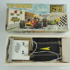 Scalextric: CUENTA VUELTAS ELECTRICO PARA DOS COCHES SCALEXTRIC A-268 LAP COUNTER. Lote 235084270