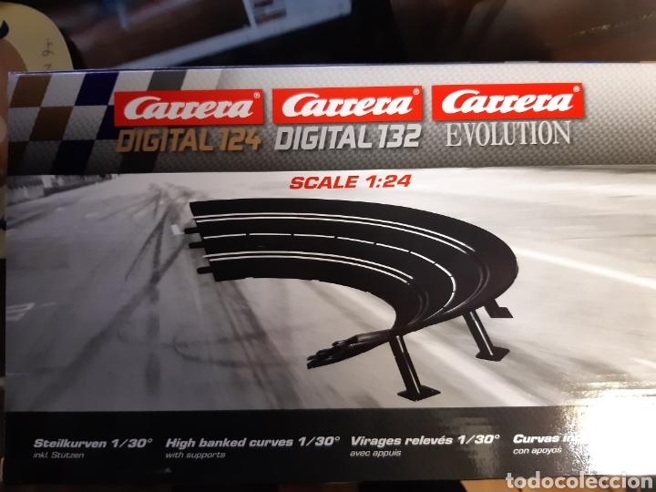 PISTAS CURVAS INCLINADAS CON APOYOS 1/30 CARRERA SCALEXTRIC.NUEVAS A ESTRENAR (Juguetes - Slot Cars - Scalextric Pistas y Accesorios)
