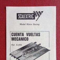 Scalextric: SCALEXTRIC. INSTRUCCIONES PARA INSTALAR CUENTA VUELTAS MECÁNICO. Lote 237114230