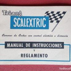 Scalextric: SCALEXTRIC. MANUAL DE INSTRUCCIONES Y REGLAMENTO. EXIN LINES. Lote 237114700