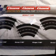 Scalextric: SCALEXTRIC 3 CURVAS DE 60 GRADOS MARCA CARRERA. Lote 237181925