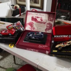 Scalextric: LOTE 3 COCHES COLECCIONABLES ( COOPER CLIMAX, GT FERRARI 330 SCALEXTRIC,1 PORSCHE 908 FLUNDER FLY). Lote 237397815