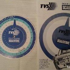 Scalextric: TABLA DE VELOCIDADES SCALEXTRIC - DISCO 14 CM Y HOJA USO TVS - DECÁDA 1980S. BUEN ESTADO.. Lote 240079685