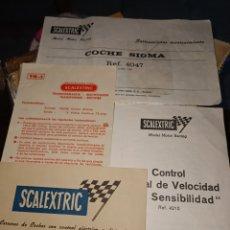 Scalextric: DOCUMENTACION SCALEXTRIC. Lote 241789120