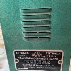 Scalextric: ANTIGUO TRANSFORMADOR RECTIFICADOR EXINSA EXIN 125 O220 VOLTIOS PARA SCALEXTRIC CON SU CAJA AÑOS 60. Lote 244569535