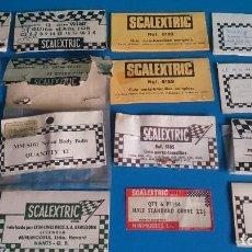 Scalextric: LOTE ETIQUETAS BOLSAS SCALEXTRIC. Lote 245972160