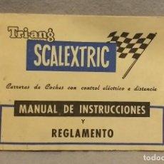 Scalextric: SCALEXTRIC . * SCALEXTRIC TRIANG - MANUAL DE INSTRUCCIONES Y REGLAMENTO * . BUEN ESTADO.. Lote 247244455