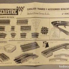 Scalextric: SCALEXTRIC . * SCALEXTRIC . CATALOGO TRAMOS Y ACCESORIOS 4ª EDICION * . BUEN ESTADO.. Lote 247245535
