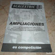 Scalextric: LOTE MANUALES CIRCUITO CONTROL DE TIEMPO AMPLIACIONES INSTRUCCIONES VER FOTOS SCALEXTRIC. Lote 249094820