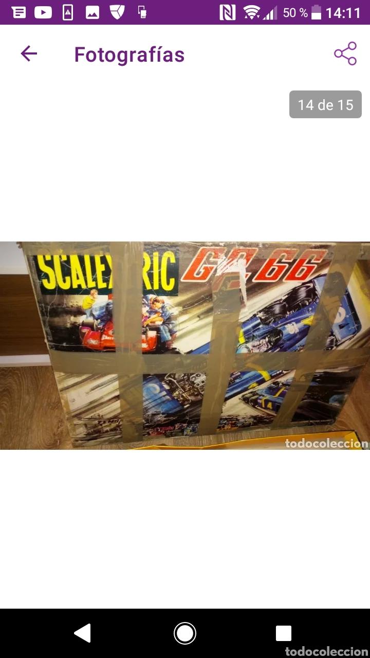 Scalextric: Gran lote scalextric variado caja gp 66 pistas documentos accesorios transformadores, no probado - Foto 7 - 249301230