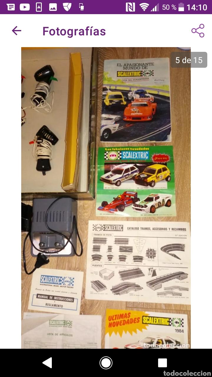 Scalextric: Gran lote scalextric variado caja gp 66 pistas documentos accesorios transformadores, no probado - Foto 9 - 249301230