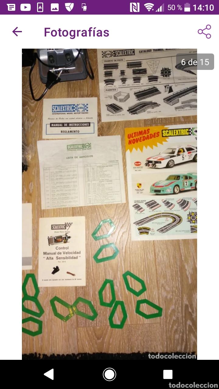 Scalextric: Gran lote scalextric variado caja gp 66 pistas documentos accesorios transformadores, no probado - Foto 12 - 249301230