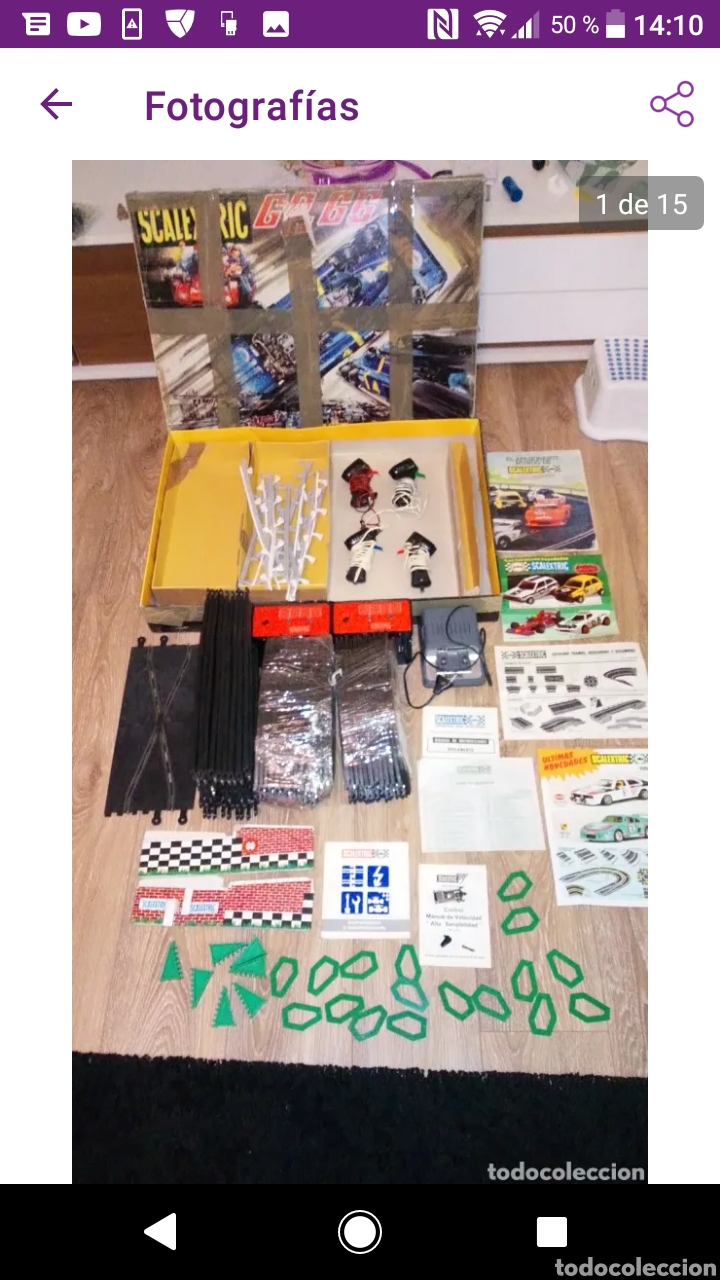 Scalextric: Gran lote scalextric variado caja gp 66 pistas documentos accesorios transformadores, no probado - Foto 13 - 249301230