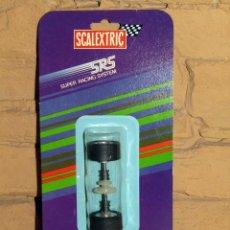 Scalextric: SCALEXTRIC SRS - TREN RUEDAS POSTERIOR CORONA 27 DIENTES - 7402 - NUEVO - BLISTER ORIGINAL RECORTADO. Lote 252949155