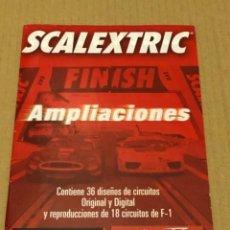 Scalextric: CUADERNILLO SCALEXTRIC AMPLIACIONES DISEÑOS DE CIRCUITOS. Lote 254699070