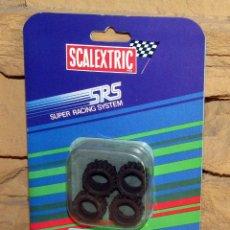 Scalextric: SCALEXTRIC SRS - 4 NEUMATICOS (60 TACOS RALLYE) - 7202 - NUEVO Y EN SU BLISTER ORIGINAL. Lote 255994535