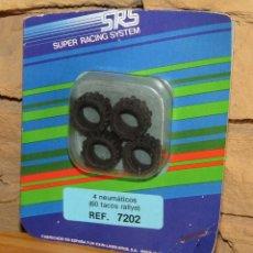 Scalextric: SCALEXTRIC SRS - 4 NEUMATICOS (60 TACOS RALLYE) - 7202 - NUEVO Y EN SU BLISTER ORIGINAL. Lote 255994630